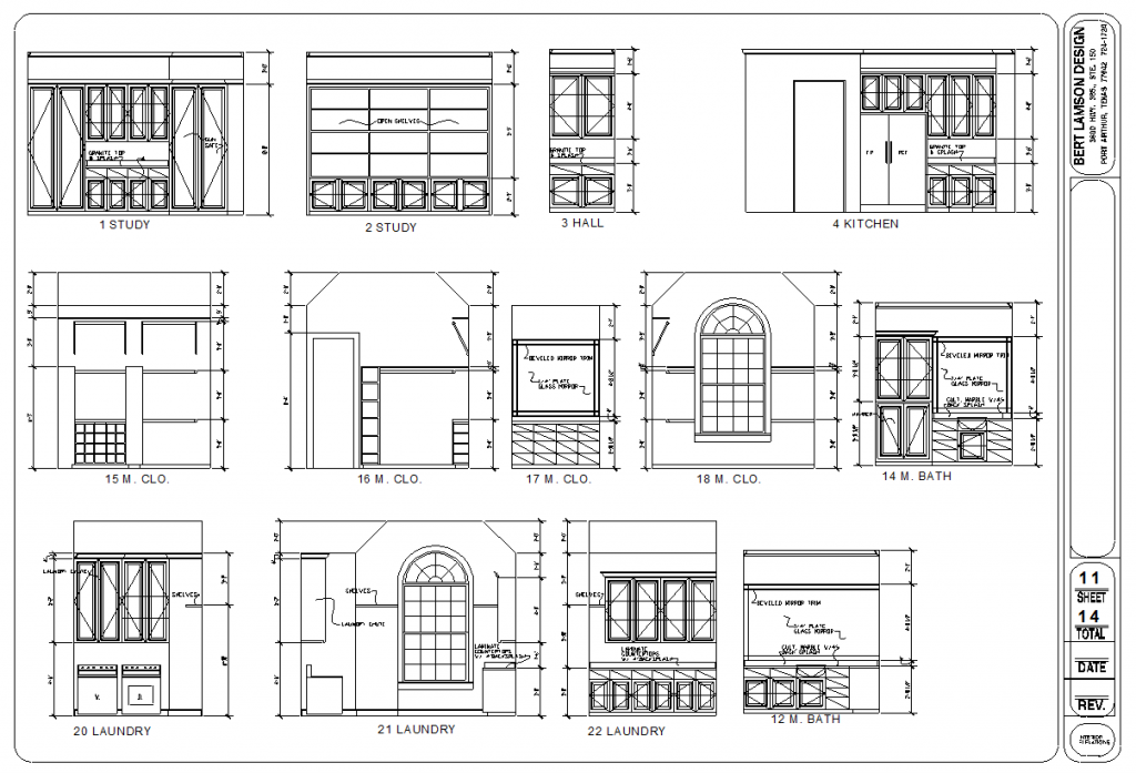 bert lamson design  u2013 interior elevations
